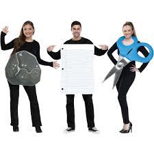 Rock Paper Scissors Adult Halloween Costume Walmart Com
