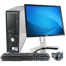 dell desktop pc computer windows 7 3 4ghz dual core 4gb 17 lcd monitor wifi
