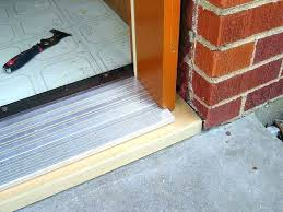 cost to replace exterior door and frame replacing exterior door jamb and threshold cost to install