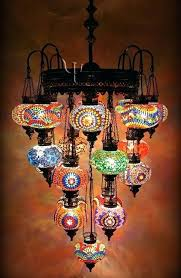 colored glass globe chandelier no original link though so idea where it is from could be