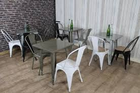 industrial style restaurant furniture. Brilliant Vintage Cafe Tables And Chairs Industrial Restaurant Handmade To Order Style Steel Furniture