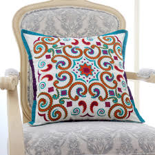 New embroidered vintage floral sofa cushions chair seat home decorative  throw pillows pillowcase square 20X20