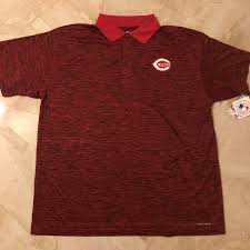 Details About Cincinnatti Reds Cool Base Polo Shirt 2xl Red Heather Majestic Mlb