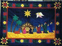 Nativity quilt   Nativity Set   Pinterest   Christmas nativity ... & Royal Nativity Applique Christmas Quilt Pattern by Sagebud Designs and  Coral Love at Creative Quilt Kits Adamdwight.com