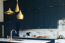 Navy And Brass Is 2018 Interior Design Trend For Kitchens And Hotels