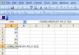 Vat Calculation Formula In Excel Download Sum The Largest Numbers In A List