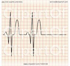 Clipart Of A Heart Beat Ekg Chart Royalty Free Vector