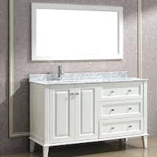 modern white bathroom vanity with marble top belvedere 24 inch ceramic countertop