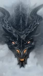 HD Backgrounds Skyrim Dragon Alduin Fog ...