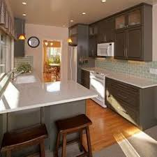Fine Kitchens With White Appliances And Dark Cabinets Kitchen Ideas Decorating Painted On Impressive Design