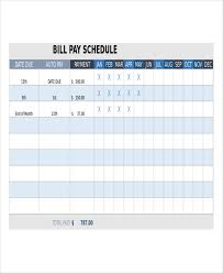 Invoice Schedule Template Bill Pay Template Barca Fontanacountryinn Com