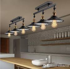 Industrial home lighting Ceiling Anqitue Led Ceiling Light Vintage Pendant Lights Loft Industrial Home Lighting American Countryside Restaurant Heads Chandelier Pendant Lamp Cord String Dhgate Anqitue Led Ceiling Light Vintage Pendant Lights Loft Industrial