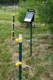 electric fence for garden. Electric Fence Powered By Solar To Keep Out Deer And Large Animals From Garden For E