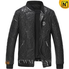 embroidered leather jacket cw808036 jackets cwmalls com