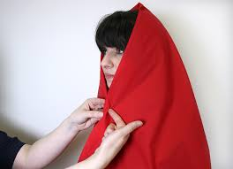 diy little red riding hood cape step 2