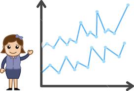 Chart Cartoon Progress Chart Business Cartoon Character Vector Royalty
