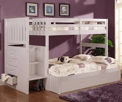 white bunk bed with stairs. Brilliant Stairs Stair Stepper Bunk Bed White Image 1 For White With Stairs R