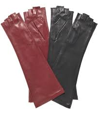 women s long elbow length gloves with 1 2 fingers 8 on length