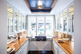 white kitchens with walnut wood countertops