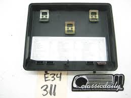 bmw e34 535 525 540 530 fuse box cover classic daily e34 fuse box diagram bmw e34 535 525 540 530 fuse box cover