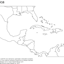 Blank Map South Printable Free Of Outline Political Central America