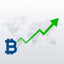 Free Bitcoins Upward Trend Growth Chart Vector Svg Dxf Eps