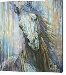 horse canvas prints fine art of a diffe color wall companions equine paintings on artwork large horse painting on canvas