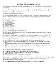 Mutual Confidentiality Agreement 100 Sample Agreement Templates in Microsoft Word 70
