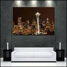 pretentious seattle wall art small home decor inspiration enchanting canvas print skyline fine gallery