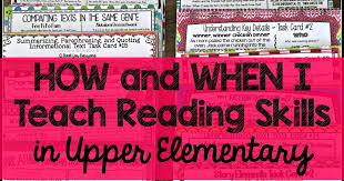 Reading Comprehension Scope And Sequence Chart Teaching With A Mountain View How And When I Teach Reading