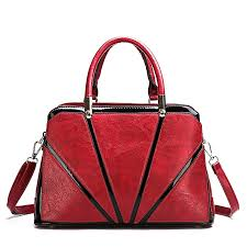 women s large tote bag soft leather shoulder handbag red