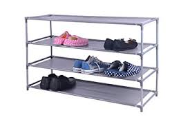 Home Basics 10 Tier Coated Non Woven Shoe Rack Amazon Home Basics 100 Pair NonWoven Shoe Rack 100Tier Wide 19