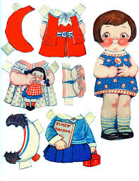 Free printable fireman activity paper doll. Free Printable Vintage Paper Dolls The Graphics Fairy