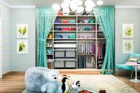child closet with fabric baskets kid s closets 17