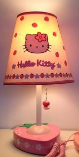 cotton red kitty girls bedroom