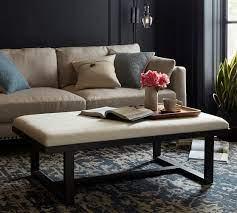 griffin upholstered rectangular ottoman