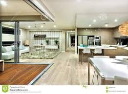 modern mansion living room. The Modern House Interior Panorama With Kitchen And Living Room Mansion