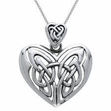 details about sterling silver celtic heart pendant