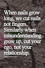 Misunderstanding Quotes Unique When Nails Grow Long We Cut Nails Not Fingers Similarly When