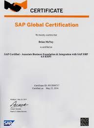 Certification: SAP Certified  Associate Business Foundation & Integration  with SAP ERP 6.0 EHP5