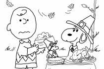 Charlie Brown Thanksgiving Coloring Pages Free Color Bros