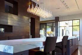 image of contemporary mini pendant lighting kitchen