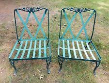 indian antique french cushions. VINTAGE WROUGHT IRON PATIO CHAIRS MID CENTURY WOODARD ROSE PATTERN LOW TO  GROUND Indian Antique French Cushions
