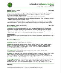 systems engineer sample resumes systems engineer free resume samples blue sky resumes