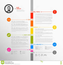 Download Vector Timeline Minimalist Cv ..