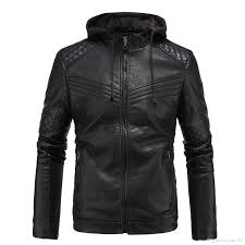 british hoos leather jacket mens 3xl plus velvet faux jacket coat winter warm men stand collar motorcycle jackets with hoos j161026