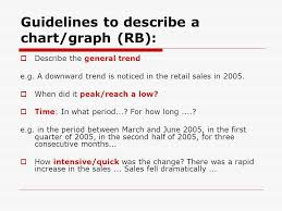 Describing Trends Or Movements In Graphs Charts How To