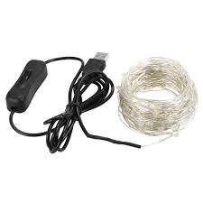 White Indoor Fairy Lights 1 Piece Fairy Lights 12m 120 Leds String Lights Usb Waterproof Warm White For Wedding Indoor Outdoor Decoration