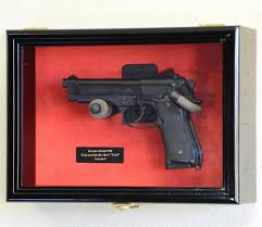 single pistol display case wall mount cabinet