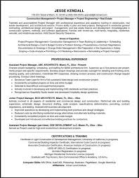 project manager resume sample httptopresumeinfoproject manager building inspector resume